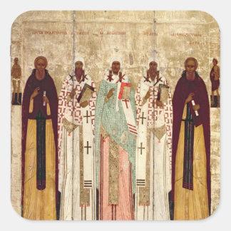 St. Sergius of Radonesh with the Saints of Square Sticker