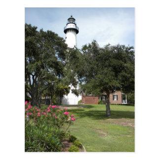 St Simon s Lighthouse Postcard