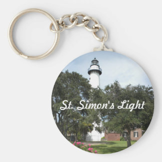 St. Simon's Lighthouse Basic Round Button Keychain