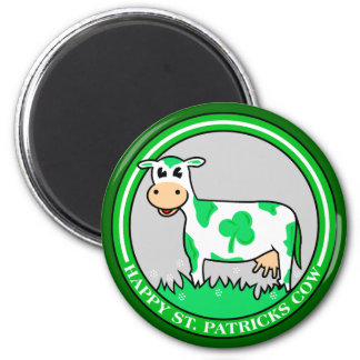 ST. St. Patrick's Day Cow Shamrock Magnet