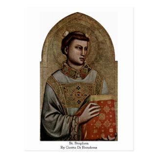 St. Stephen By Giotto Di Bondone Postcard