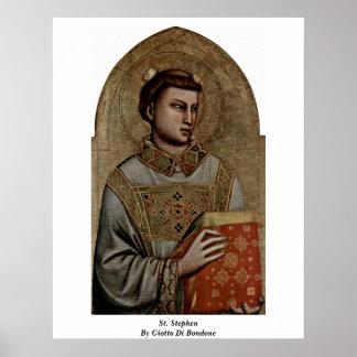 St. Stephen By Giotto Di Bondone Poster
