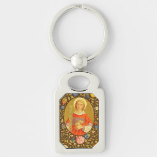 St. Stephen the ProtoMartyr (PM 08) Silver-Colored Rectangle Keychain