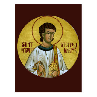 St. Stephen the Protomartyr Prayer Card Postcard
