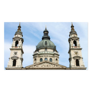 St Stephens Basilica and Clock Tower in Budapest Business Card Template