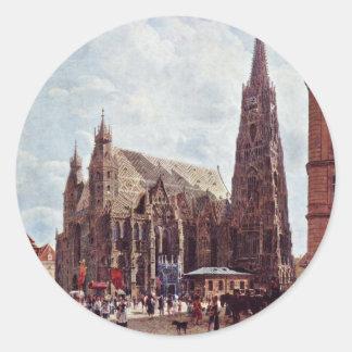 St. Stephen'S Cathedral From Stock Im Eisen Classic Round Sticker
