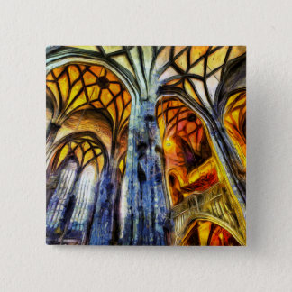 St Stephens Cathedral Vienna Art 2 Inch Square Button