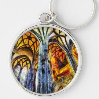 St Stephens Cathedral Vienna Art Keychain