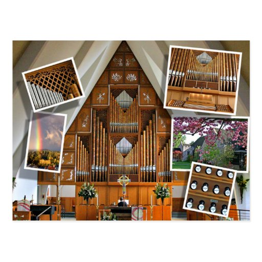 St Stephen's Church, Seattle, montage Post Card