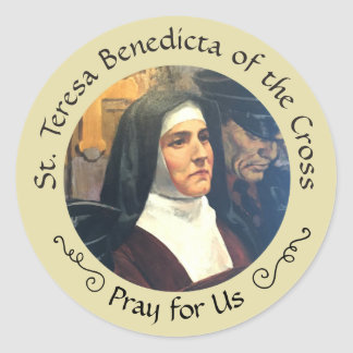 St. Teresa Benedicta of the Cross Feast Aug 9 Classic Round Sticker