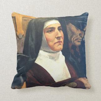 St. Teresa Benedicta of the Cross & St John of God Throw Pillow
