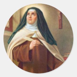 St. Teresa of Avila Carmelite Nun Classic Round Sticker