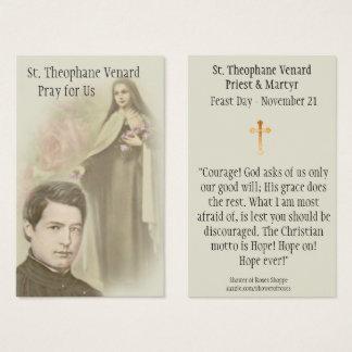 St. Theophane Venard Priest & Martyr Holy Card