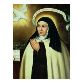 St. Theresa of Avila  1570 Postcard
