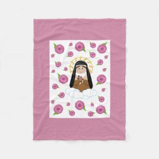 St. Therese Fleece Baby Blanket