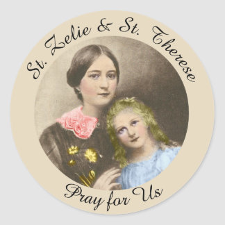 St. Therese & her mother St. Zelie Martin Classic Round Sticker