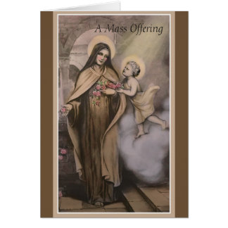 St. Therese Mass Memorial Offering Card