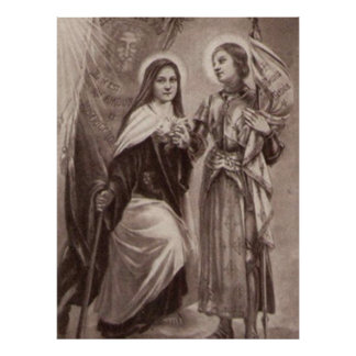 St. Therese of Lisieux Joan of Arc Catholic Saints Poster