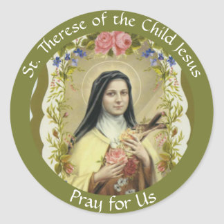 St. Therese of the Child Jesus Classic Round Sticker