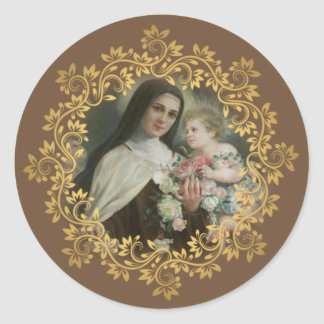 St. Therese of the Child Jesus Little Flower Classic Round Sticker