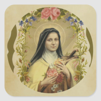 St. Therese of the Child Jesus Little Flower Square Sticker