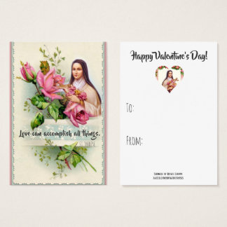 St. Therese Quote Valentines Cards (100 pk)