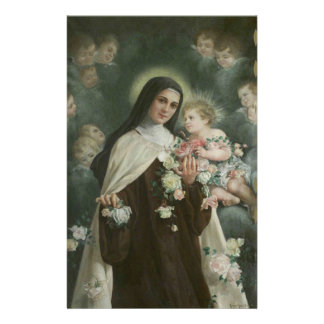 St. Therese the Little Flower Roses Angels Stationery