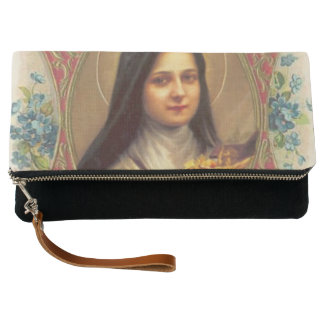 St. Therese the Little Flower Roses Crucifix Clutch