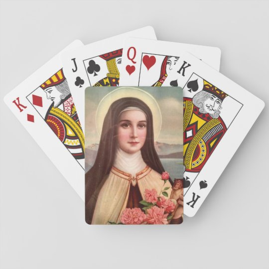 St. Therese the Little Flower Roses Crucifix Playing Cards