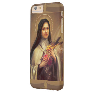 St. Therese the Little Flower w/pink roses Barely There iPhone 6 Plus Case