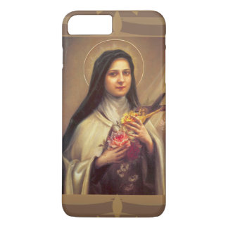 St. Therese the Little Flower w/pink roses iPhone 7 Plus Case