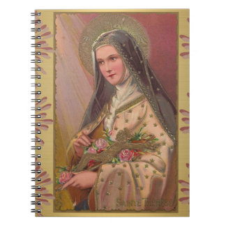 St. Therese with Roses & Crucifix Notebook