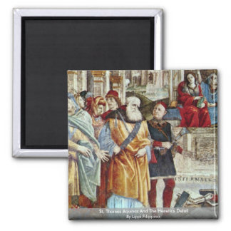 St. Thomas Aquinas And The Heretics Detail Magnet