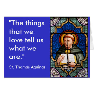 St. Thomas Aquinas Card