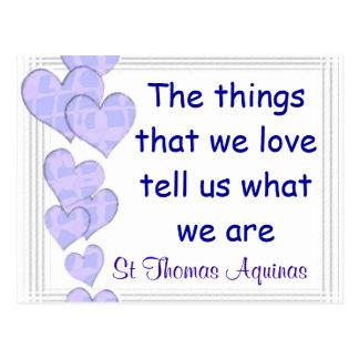 St Thomas Aquinas postcard