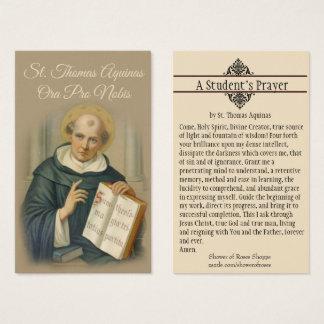 ST. THOMAS AQUINAS PRAYER HOLY CARD