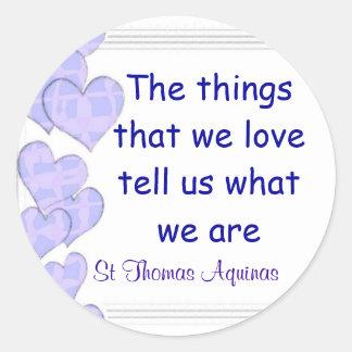 St Thomas Aquinas stickers