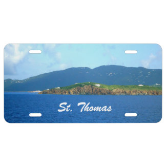 St. Thomas Arrival License Plate