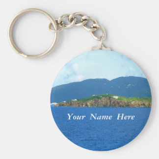 St. Thomas Arrival Personalized Basic Round Button Keychain