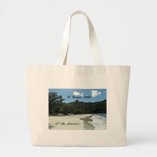 St. Thomas beach Large Tote Bag