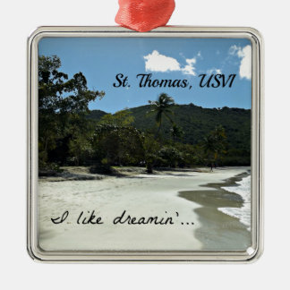 St. Thomas beach Metal Ornament