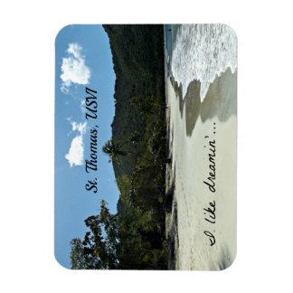 St. Thomas beach Rectangular Photo Magnet