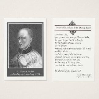 St. Thomas Becket of Canterbury Prayer Holy Card