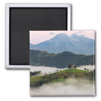 St. Thomas church and mountains in Slovenia magnet