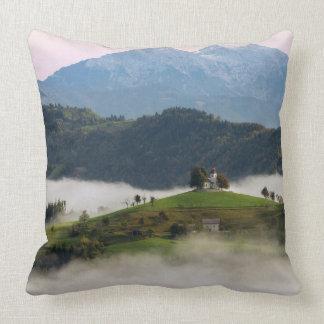 St. Thomas church and mountains in Slovenia pillow