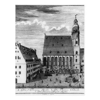 St. Thomas Church and School in Leipzig, 1723 Postcard