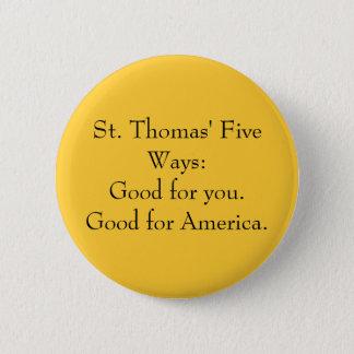St. Thomas' Five Ways: button
