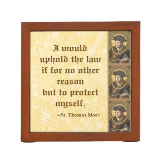 St. Thomas More (SAU 026) Famous Quote on Law Desk Organizer
