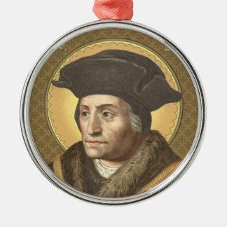 St. Thomas More (SAU 026) Premium Circular Metal Ornament