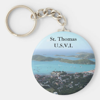 St. Thomas U.S.V.I. Basic Round Button Keychain